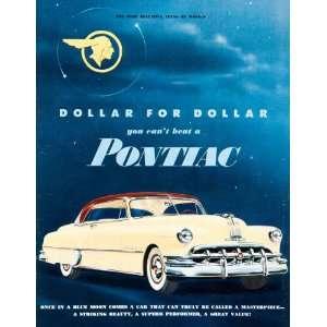 1950 Ad Pontiac Car General Motors Chevrolet Yellow Indian