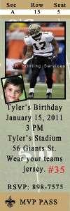 Birthday Invite Pittsburgh Steelers & New Orlean Saints