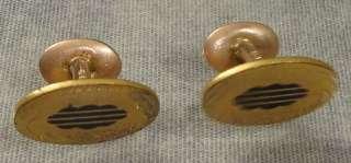 Victorian / Art Nouveau Era Antique Cufflinks Signed GLP CO.
