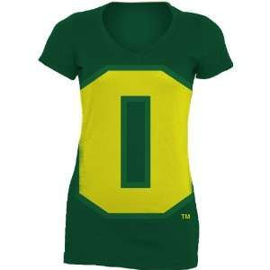 NCAA Oregon Ducks Gigantor Ladies V Neck Tee Shirt Sports