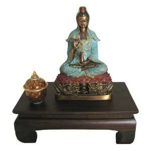 Quan Yin Statue   9.5 Hand Colored Bronze OUT OF STOCK