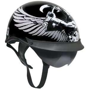 Visor Half Helmet   Viking God and Viking Symbols   Medium Automotive