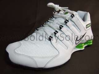 Nike Shox NZ White Black Lime Green Mens Running Sz 12