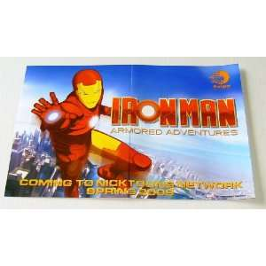 Iron Man Armored Adventures Marvel Nicktoon Mini Cartoon Promo Poster