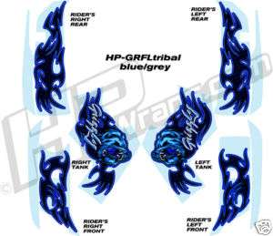 YAMAHA GRIZZLY 660 700 GRAPHICS KIT Decals Stickers BLU