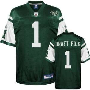 com New York Jets Jersey Reebok Green 2010 #1 Draft Pick Replica New