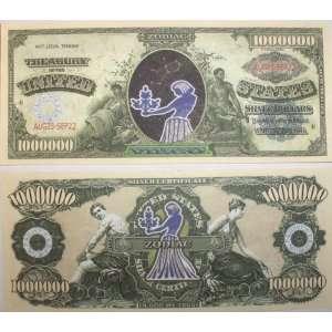 Set of 100 Zodiac Virgo One Million Dollar Bill Toys & Games