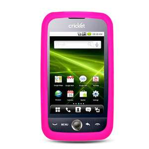 For Huawei M860 Ascend Cricket Solid Hot Pink Bumper Silicone Skin