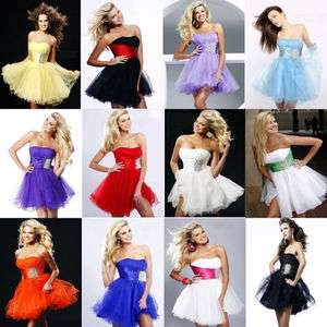 Multi color Short Formal Prom Party Ball Gown Graduation Evening