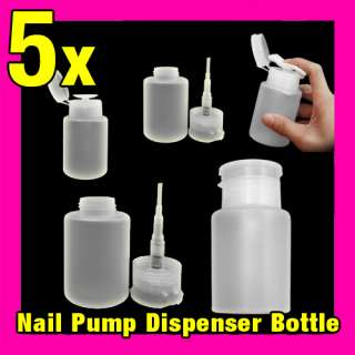 5x Nail Pump Dispenser Bottle Set Manicure