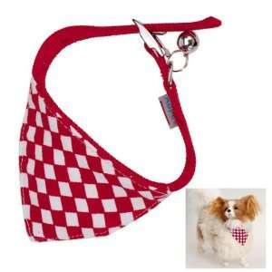 Checks Pet Dog Bandana Collar Scarf Neckerchief   S