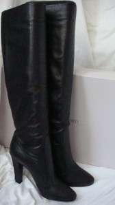 JIMMY CHOO HALLIE KNEE HIGH BOOTS size 38 BLACK *SALE*