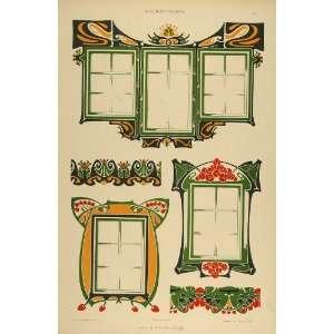 1904 Lithograph Art Nouveau Window Frames H. Berlepsch