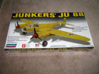 Lindberg JUNKERS JU 88 Aircraft Model Kit 1/72 NEW!