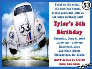 Herbie the Love Bug Invitations/Birthday Party Supplies