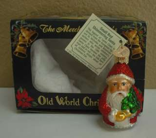 Merck OLD WORLD CHRISTMAS Ornament SANTA Mini 2001