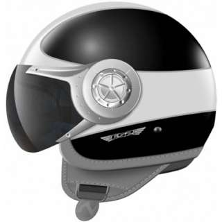 CRUISER OPEN FACE DEMI JET MOTORBIKE MOTORCYCLE SCOOTER CRASH HELMET