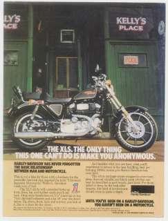 1979 Harley Davidson XLS motorcycle photo print ad