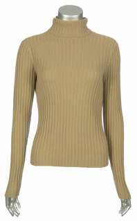 Sutton Studio 100% Pure Cashmere Large Ribbed Turtleneck Sweater
