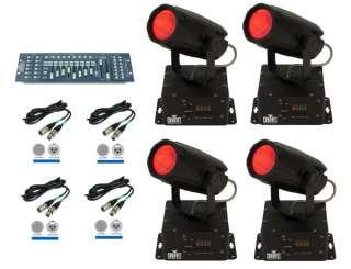 CHAUVET Mini Moon LED 360 DMX Lights + Obey 40 Light Controller + 4