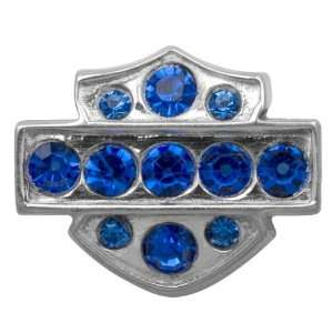 Harley Davidson® Sterling Silver Bar & Shield Sapphire Crystal Ride