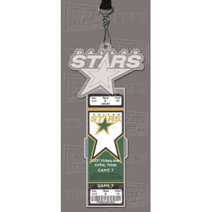 Dallas Stars Engraved Ticket Holder