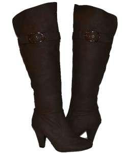 Womens Knee High Boots w/ 3inch heel in BLACK, BEIGE, BROWN, Brand New