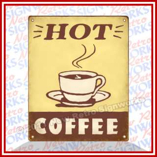 Hot Coffee SIGN Kitchen Cafe Mocha Latte Cup Wall Decor