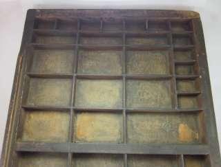 Vintage Printers Drawer Curio Display Wall Shelf Organizer Rustic