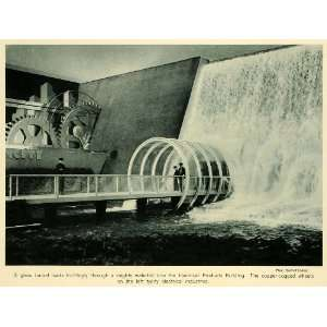 1939 Print New York Worlds Fair Tunnel Waterfall