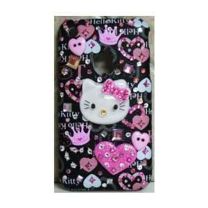 HELLO KITTY IPHONE CASE IPHONE 3G COVER W/ SWAROVSKI CRYSTAL 3 D