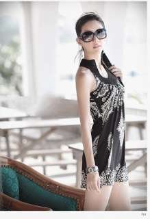 Vintage Stand Collar Sleeveless Party Cocktail Summer Mini Dress