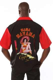 Rock House Retro Cigar Shirt Mama Havana Shirt Button Front