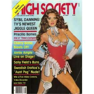 HIGH SOCIETY MAGAZINE OCTOBER 1981 CHERRY BOMB, ANNIE AMPLE, AUNT PEG