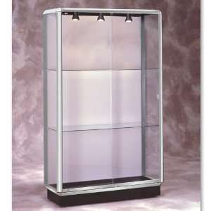Waddell 48 Wide Lighted Chrome Floor Case Sports