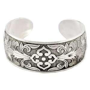 Tibetan Silver Flower Bracelet