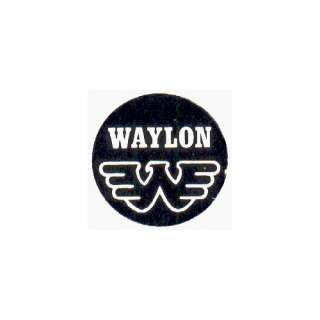 Waylon Jennings   Logo (Eagle)   1 Button / Pin: Clothing