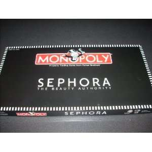 SEPHORA MONOPOLY Board Game   Game includes Game board, Title Deed