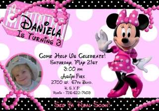 MINNIE   MICKEY MOUSE CLUBHOUSE Birthday Invitations