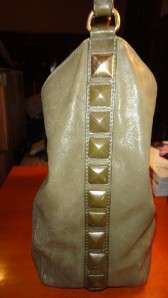 MICHAEL KORS GREEN LEATHER HOBO HANDBAG