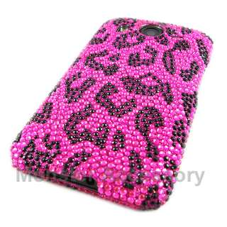 Pink Leopard Bling Hard Case Cover For HTC Inspire 4G