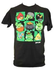 Angry Birds (Hit Mobile App) Mens T Shirt   St. Patricks Day Edition