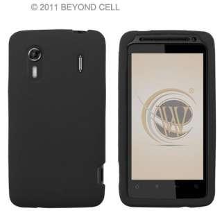 Black Skin for Sprint HTC Evo Design 4G Silicone Rubber Case