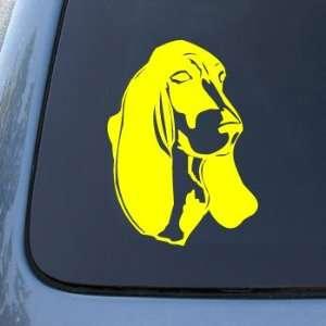 BASSET HOUND HEAD   Dog   Vinyl Car Decal Sticker #1488  Vinyl Color