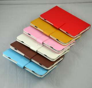 Leather Folio Case Cover +(Free Flim ) for Lenovo IdeaPad A1 Tablet PC