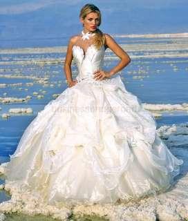 White/Ivory Sweetheat Neckline Wedding Dresses Bride Gowns *Custom