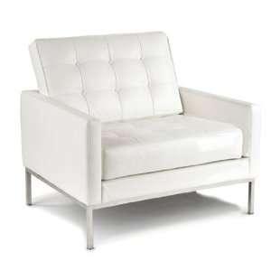 Design Mid Century Modern Bright White Baliette Chair