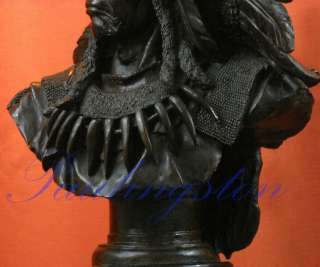 Native American Art Indian Chief Bronze Bust Sculpture Statue 42lbs