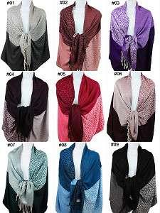 Cashmere Silk Wool Pashmina Scarf Shawl Wrap Cape 81 06