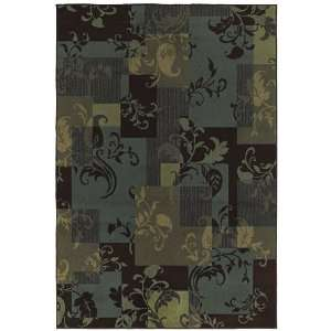 Concepts Collection Idyll Blue Transitional Floral Area Rug 1.11 x 7